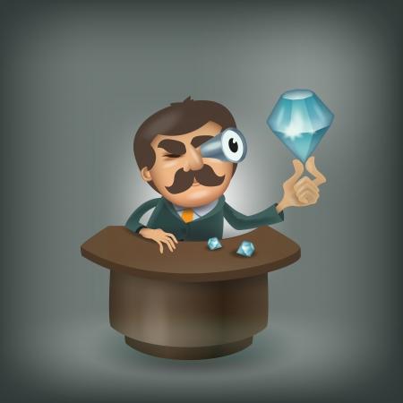 jeweler: Diamond  format Illustration