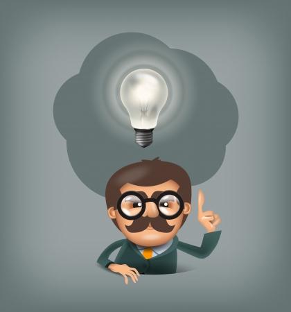 Idea. Vector format Illustration