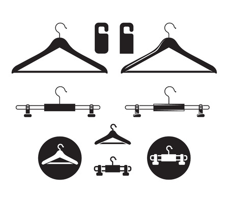 dressing room: Hanger icon. Vector format Illustration