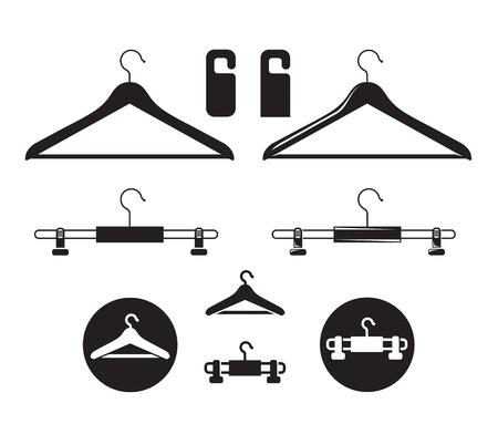laundry hanger: Icono Hanger. El formato del vector