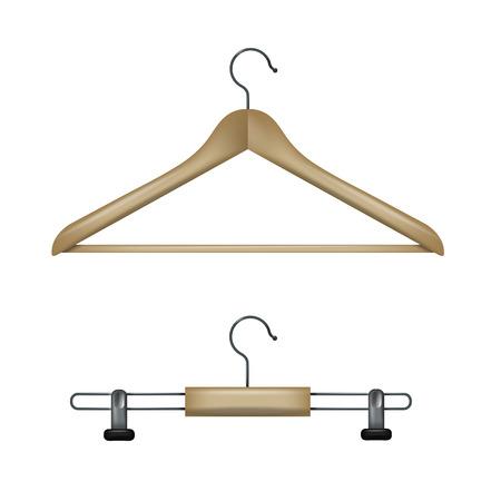 shirt hanger: Clothes hangers. Vector format Illustration