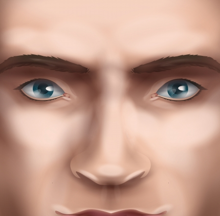 Face. Vector format