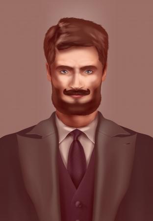 dressed for success: Man. Vector format Illustration