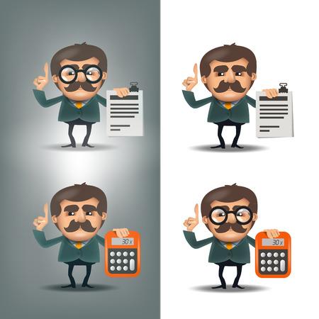 subtraction: Business. Vector format