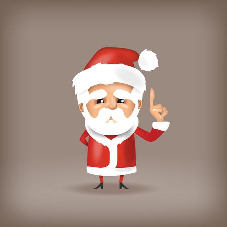 white bacjground: Santa Claus. Vector format Illustration
