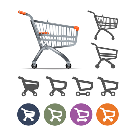 Shopping cart. Vector format Vector