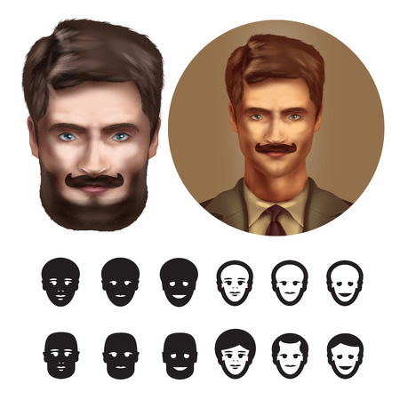 Face. Vector format Vector