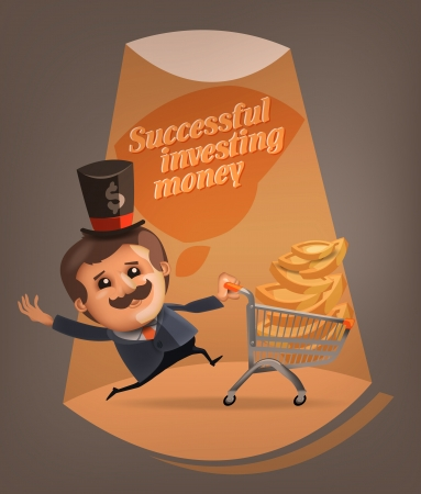 Successful investing money  Vector format Vector