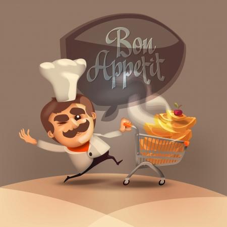 bon: Bon appetit  Vector format Illustration