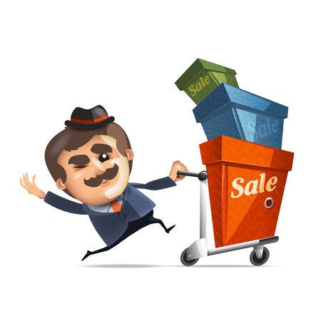 pushcart: Shopping  Vector format