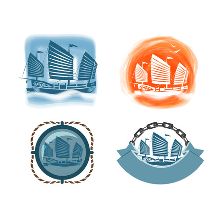 Ship icons  Vector format Vector