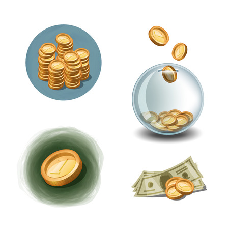 Money icons format Stock Vector - 24620145