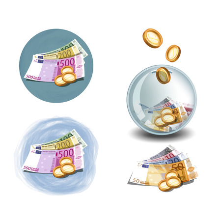 earn money: Euro icons format