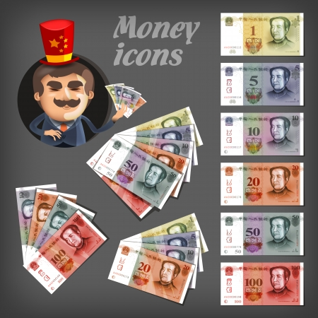 bank note: Money icons concept