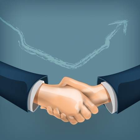 manos unidas: Apret�n de manos Vectores