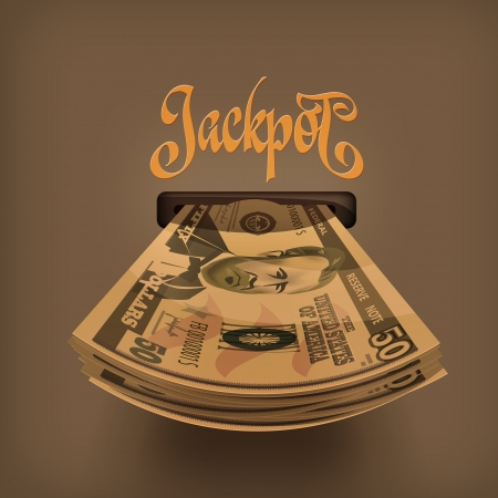currency symbol: Jackpot  Illustration