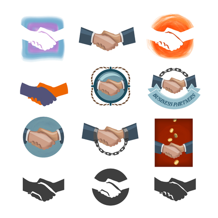 Partnership icons  Vector format Vector