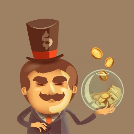 Bankier Vector formaat Vector Illustratie