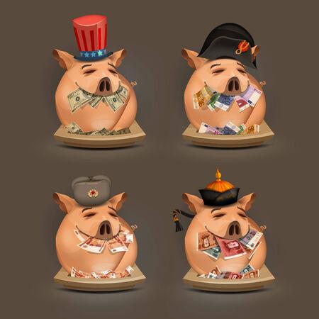 Pig  Money  Vector format Stock Vector - 24754999