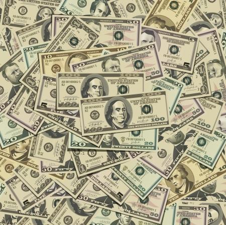 pay bill: Dollars Illustration