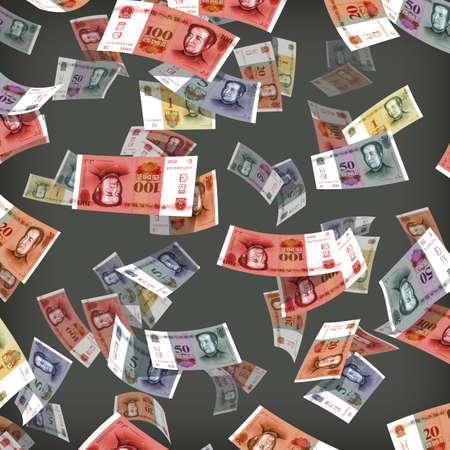 fanned: Money Illustration