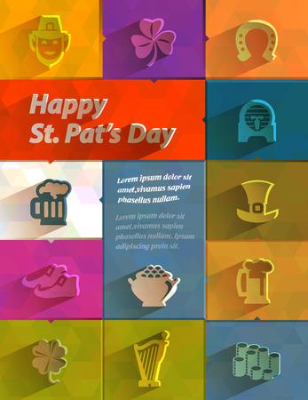 patron saint of ireland: Happy St  Patrick s Day  Vector format Illustration