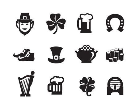 good luck symbol: St  Patrick s Day icons Vector format