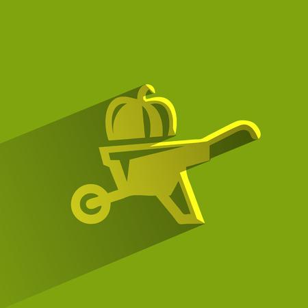 green construction: Wheelbarrow  Vector format