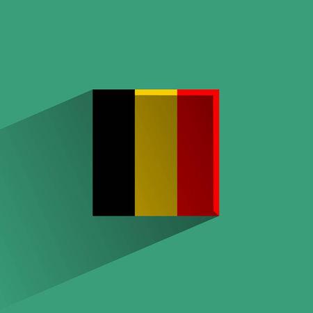 flagstaff: Belgium  Vector format