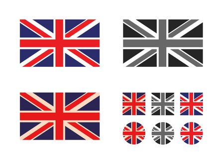 drapeau anglais: Format Royaume-Uni Vecteur Illustration