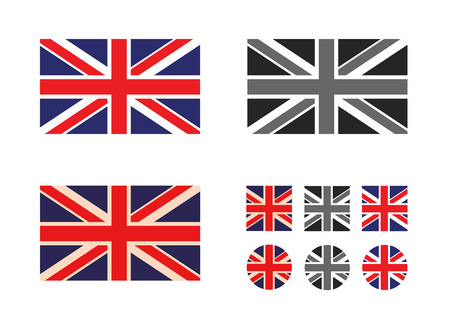 union jack: UK  Vector format Illustration