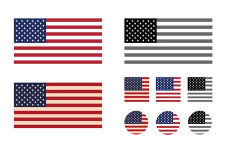 waving flag: America  Vector format Illustration