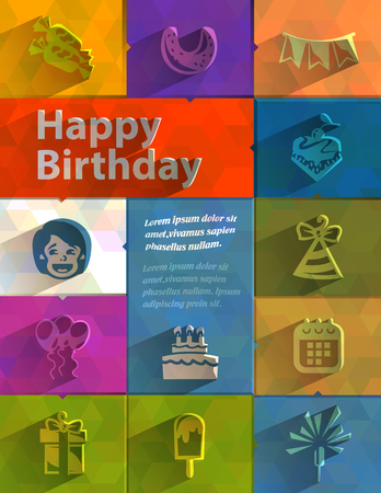 Happy Birthday  Vector format Vector