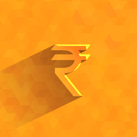 rupees: Indian rupees  Vector format Illustration