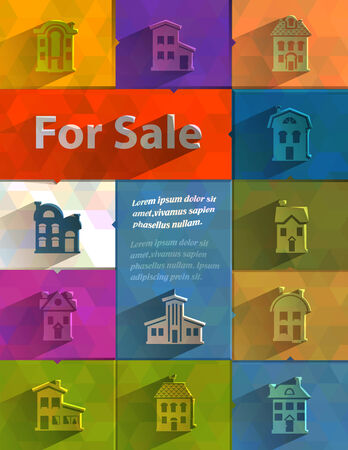 dwell house: For sale  Vector format Illustration