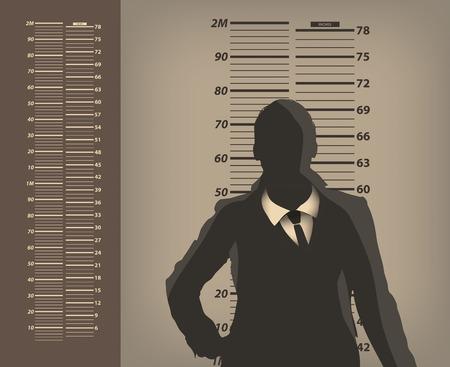 imprisoned person: Criminal  Vector format