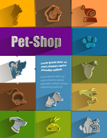 Pet-Shop  Vector format Vector