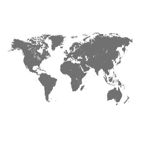 carte du monde: Format carte du monde Vector