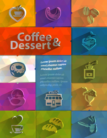 Coffee and Dessert  Vector format Vector