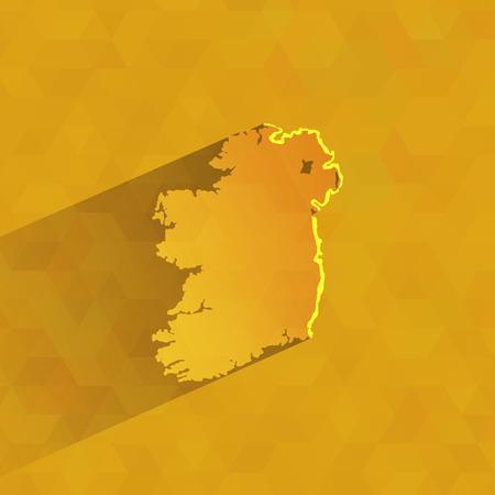 ireland map: Ireland  Vector format