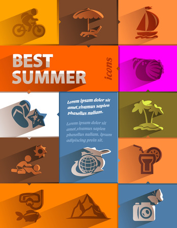 Best summer icons  Vector format Vector