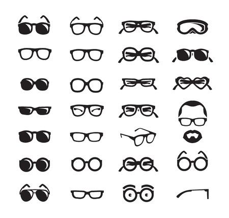 arte optico: Gafas iconos en formato vectorial