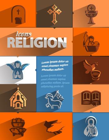 sacerdote: Formato vectorial Iconos de la religión Vectores