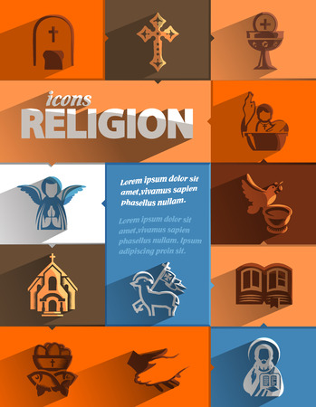 priesthood: Religion icons  Vector format Illustration