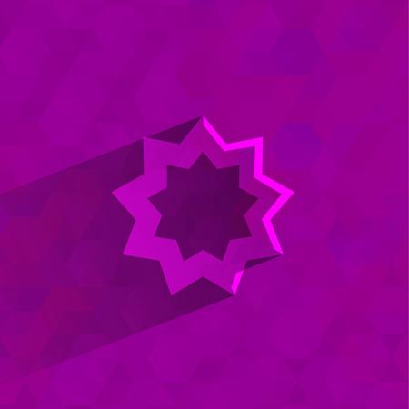 bahai: Bahai symbol  Vector format Illustration