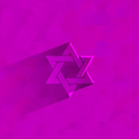 israelite: Star of David   Vector format Illustration