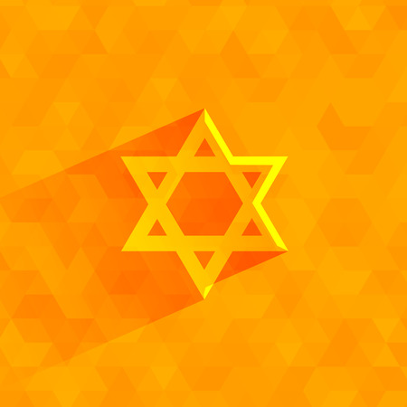 zionism: Star of David   Vector format Illustration
