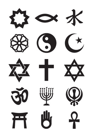 the religion: Religion symbols  Vector format