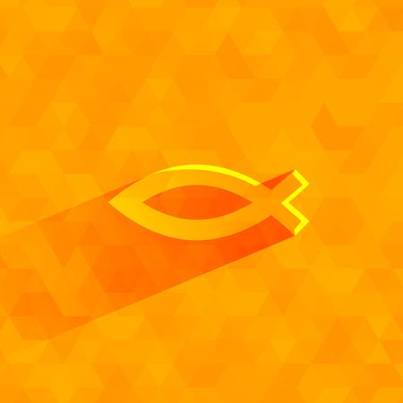 ichthus: Christianity symbol  Vector format Illustration