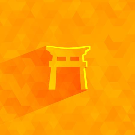 Shinto symbol  Vector format